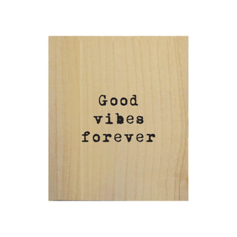 Petal Lane Home Screen Printed Good Vibes Forever Real Wood Natural Tile Magnet Perfect for Fridge and Magnet Board
