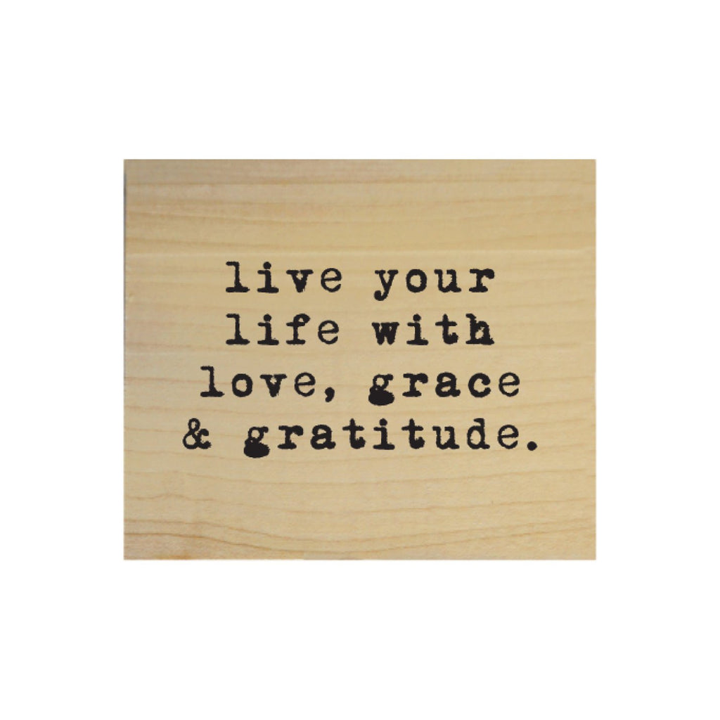 Screen Printed Live Your Life Real Wood Natural Tile Magnet