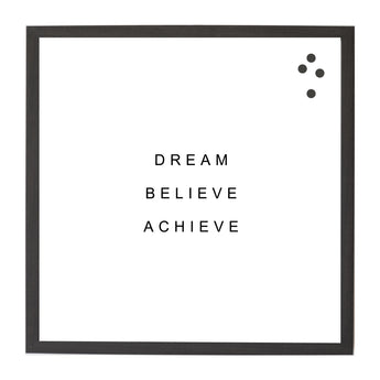 Petal Lane Home Dream Believe Achieve Simple Quote Magnet Board