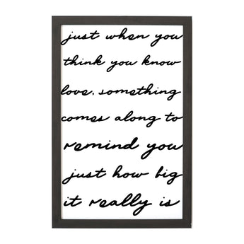 Petal Lane Home Ebony Just When You Think Magnet Board with Script Font