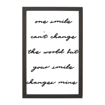 Petal Lane Home Ebony Magnet Board with Quote