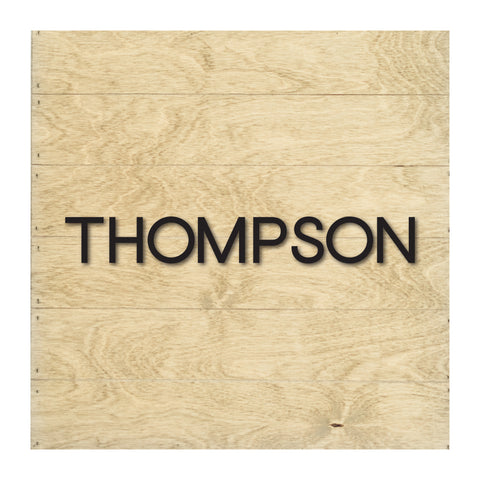 Real Wood Slat Custom Name with Raised Lettering