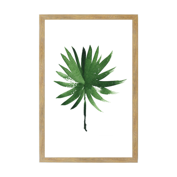 Rustic Brown Tropical Plants Fan Palm