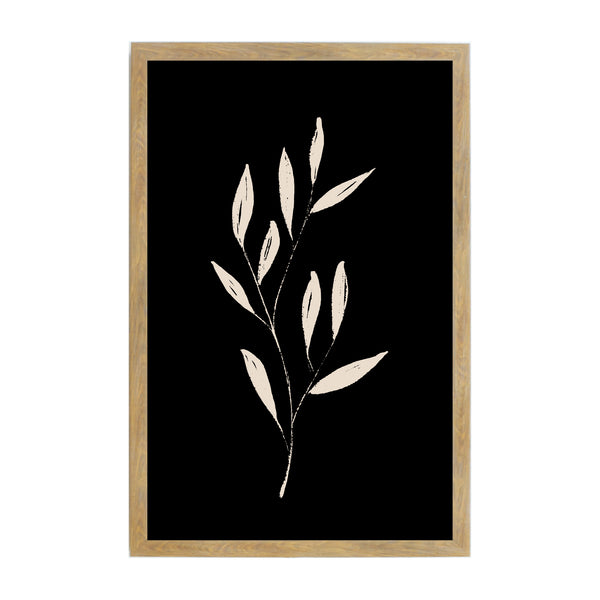 Rustic Brown Black Ink Leaves