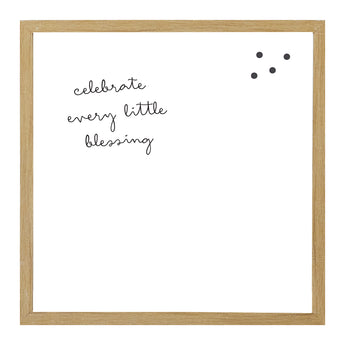 Petal Lane Home Rustic Brown Celebrate Every Little Blessing Square Magnet Board Framed with Large Options Available