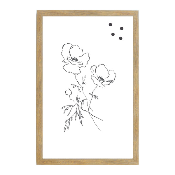 Rustic Brown Flower Drawing A