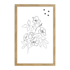Rustic Brown Flower Drawing B