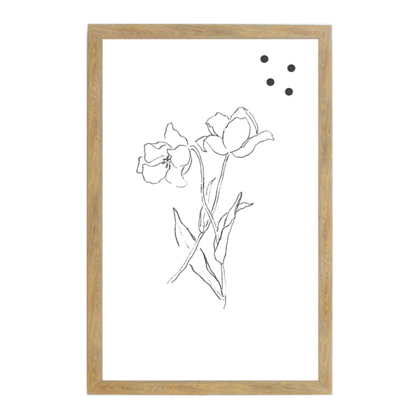 Rustic Brown Flower Drawing C