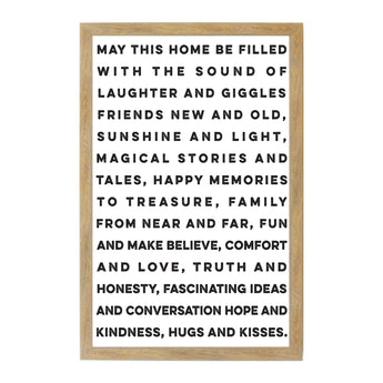 Petal Lane Home Rustic Brown May This Home Magnet Board Family Gift
