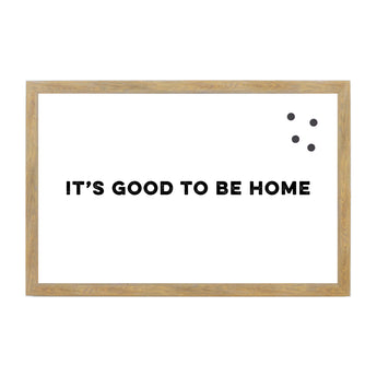Petal Lane Home Rustic Brown It's Good to Be Home Magnetic Board
