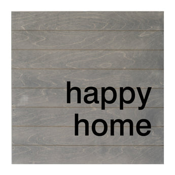 Petal Lane Home Real Wood Happy Home Slat Board Driftwood with Raised Lettering