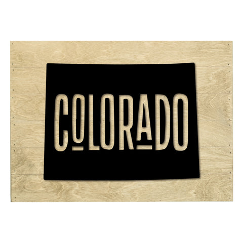 Real Wood Colorado State Slat Board with Raised Silhouette and Lettering