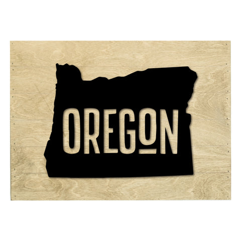 Real Wood Oregon State Slat Board with Raised Silhouette and Lettering