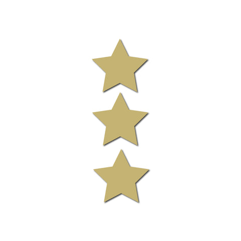 Real Wood Silhouette Star Mini Magnets