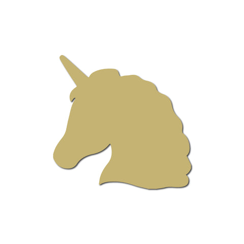 Real Wood Silhouette Unicorn Magnet