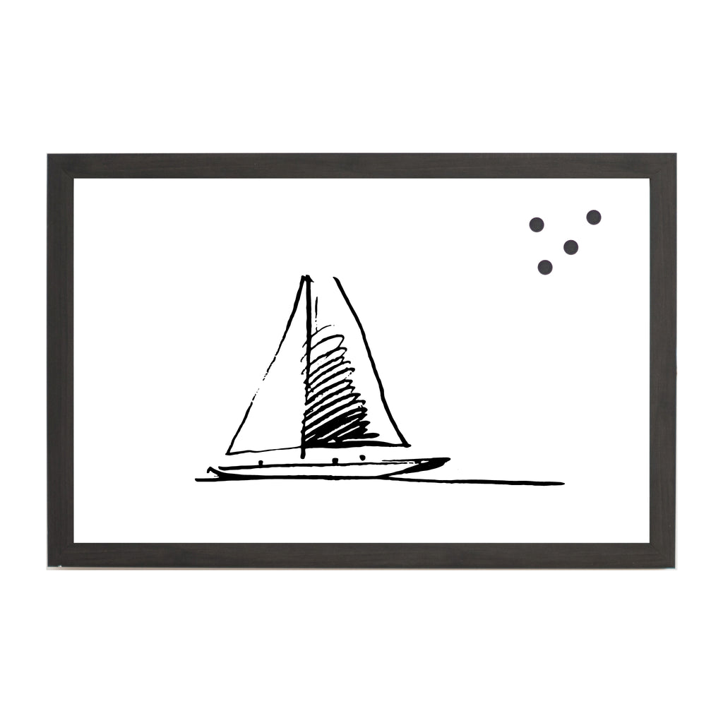 NEW Coastal Sailboat Line Drawing Magnet Board