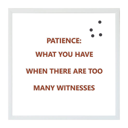 Petal Lane Home Humor Patience Magnet Board Funny Saying