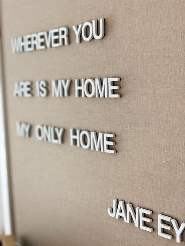 Magnetic Letter Board - Tan + White