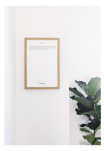 Petal Lane Home Classic Book Quote Wisdom by Ernest Hemingway on Magnetic Surface