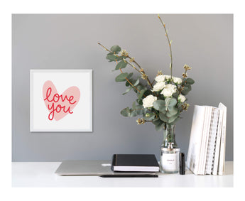 Valentine's Love You Magnetic Board