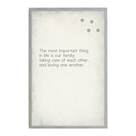 Petal Lane Home Vintage The Most Important Things Family Magnet Board