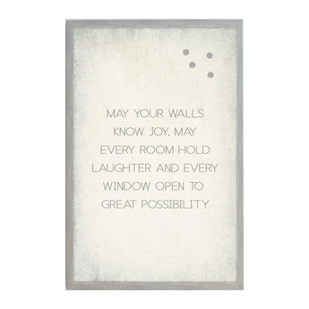 Petal Lane Vintage Home May Your Walls Magnet Board Perfect for Home Welcoming