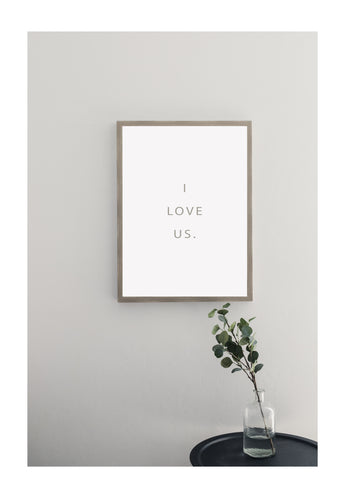 Petal Lane Home Warm Gray I Love Us Magnet Board
