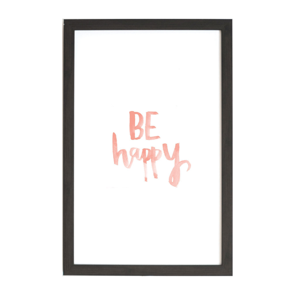 Watercolor Be Happy Magnet Board
