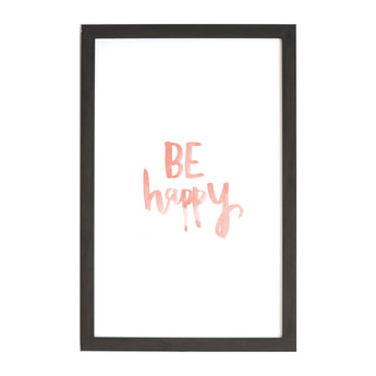 Petal Lane Home Watercolor Be Happy Magnet Board for Kids