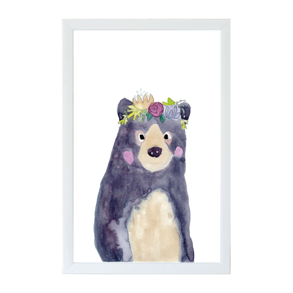 Watercolor Flower Bear Magnet Board