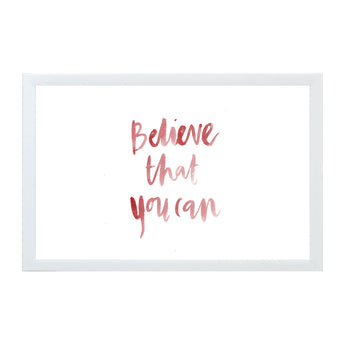 Petal Lane Home Watercolor Believe That You Can Magnet Board