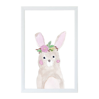 Petal Lane Home Watercolor Bunny Magnet Board for Kids