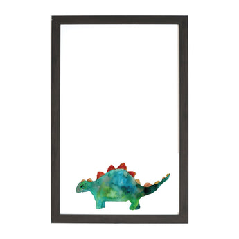 Petal Lane Home Watercolor Stegosaurus Magnet Board for Kids