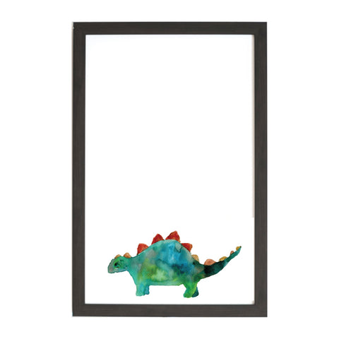 Watercolor Stegosaurus Magnet Board
