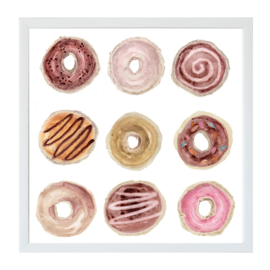 Petal Lane Home Watercolor Donuts Magnet Board for Kids and Kitchens