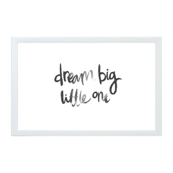 Petal Lane Home Watercolor Dream Big Little One Magnet Board for Kids and Babies