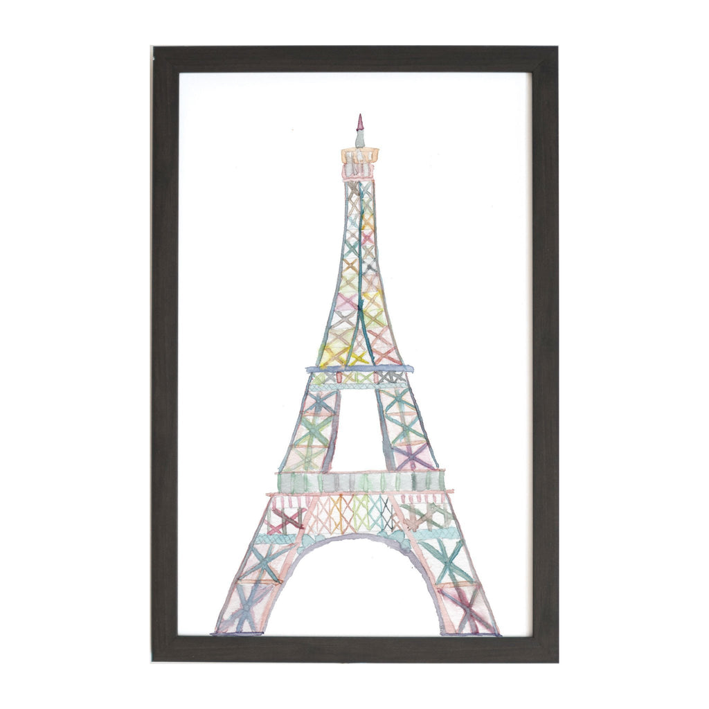 Watercolor Eiffel Tower Magnet Board