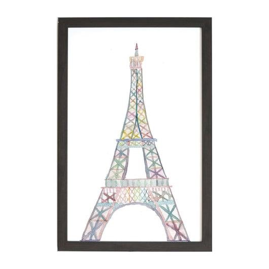 Petal Lane Home Watercolor Eiffel Tower Magnet Board for Tourists