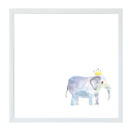 Petal Lane Home Watercolor Elephant with Crown Magnet Board for Kids