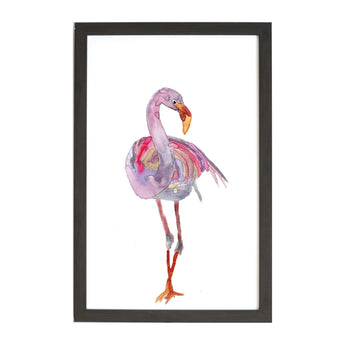 Petal Lane Home Watercolor Flamingo Modern and Trendy Magnet Board