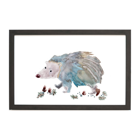 Watercolor Hedgehog Magnet Board