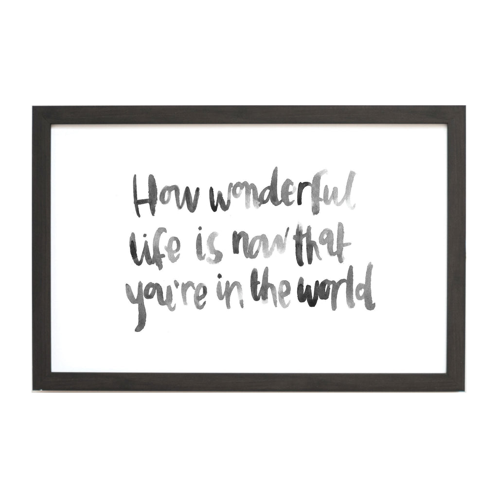 Watercolor How Wonderful Life Is Magnet Board