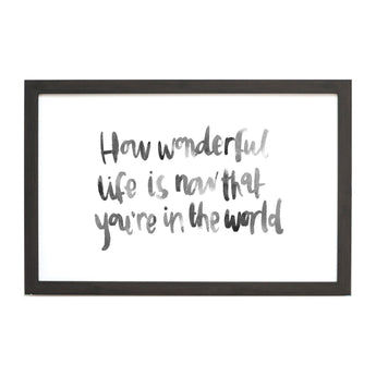 Petal Lane Home Watercolor How Wonderful Life Is Magnet Board for Babies