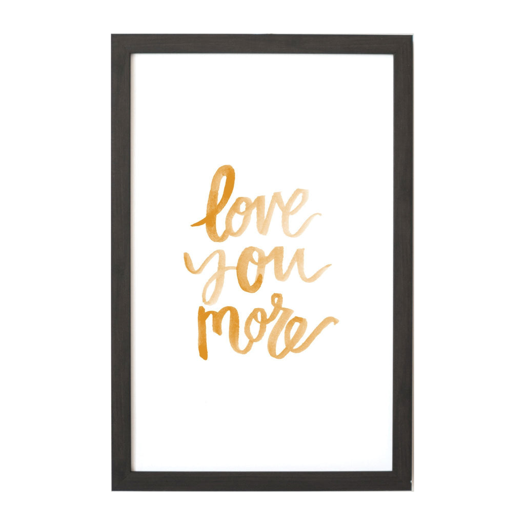 Watercolor Love you More Magnet Board