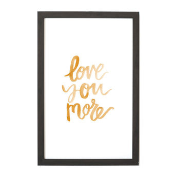 Petal Lane Home Watercolor Love You More Magnet Board for Kids