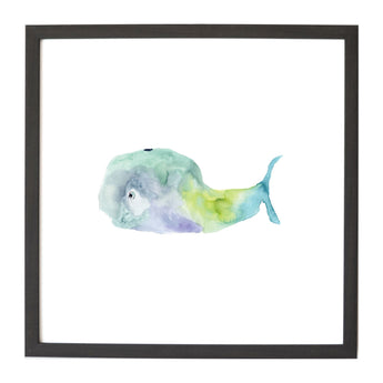 Petal Lane Home Watercolor Whale Magnet Board for Kids