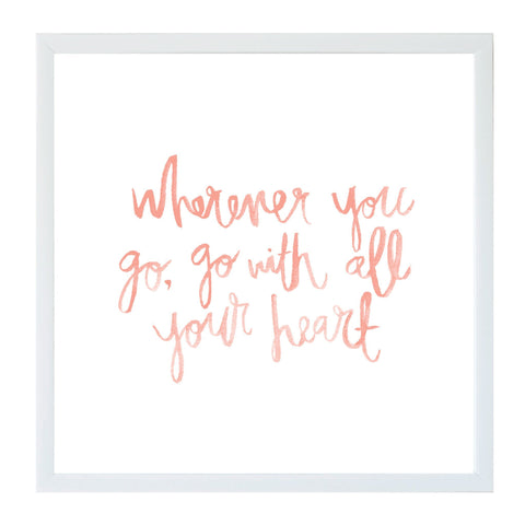 Watercolor Wherever you Go Magnet Board