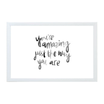 Petal Lane Home Watercolor you're Amazing Just the Way You Are Magnet Board