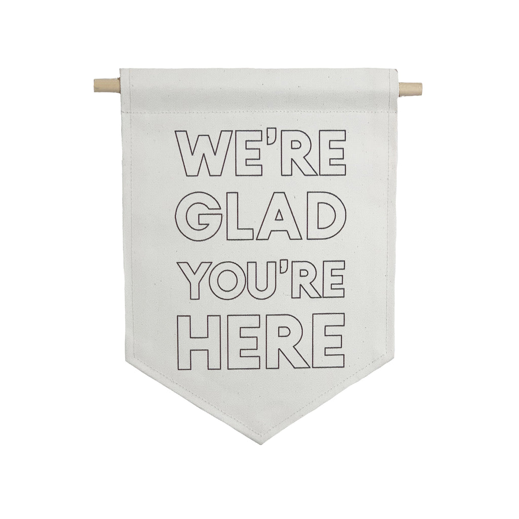 bannerlove We're Glad You're Here Hanging Banner