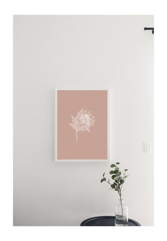 Petal Lane Home Botanical Australia Flower Line Drawing on Magnetic Board